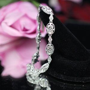 925S Tacori White Topaz Detailed Bracelet